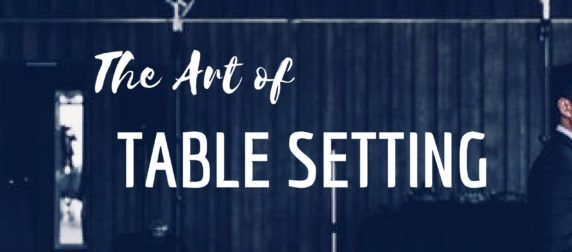 sc 1 st  Eco Events & THE ART OF TABLE SETTING | Eco Events